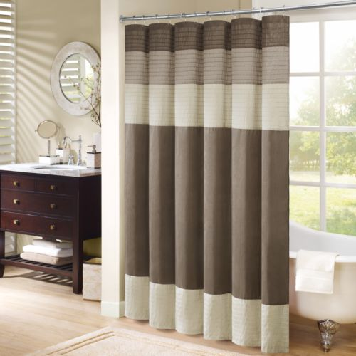 Madison Park Eastridge Striped Fabric Shower Curtain