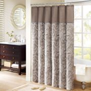 Madison Park Whitman Paisley Fabric Shower Curtain