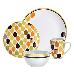 Rachael Ray Little Hoot 16 pc Dinnerware Set