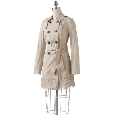 Apt. 9 Eyelet Twill Trench Jacket