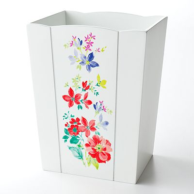 Croft and Barrow Spring Floral Wastebasket