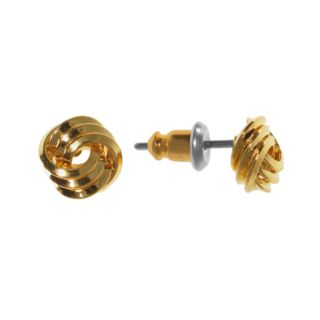 Napier Tiny Knot Post Earrings