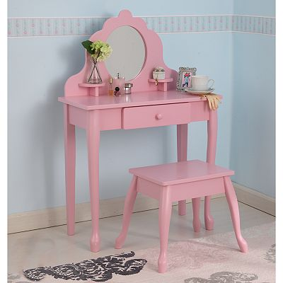 KidKraft Diva Vanity and Stool Set - Pink