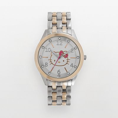 Hello Kitty Two Tone Simulated Crystal Watch - Women