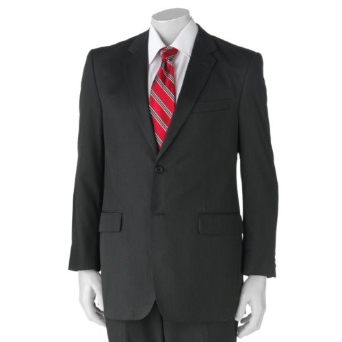Adolfo Classic-Fit Solid Gray Suit Jacket