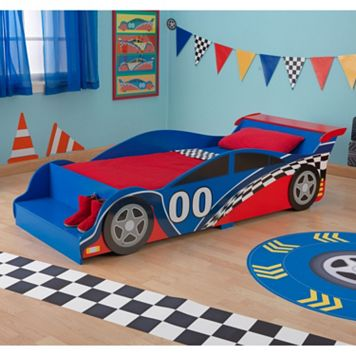 KidKraft Toddler Racecar Bed