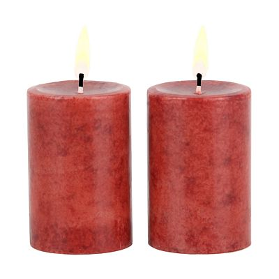 2-pk. Asian Ginger And Apple 2 x 3 Pillar Candle Set