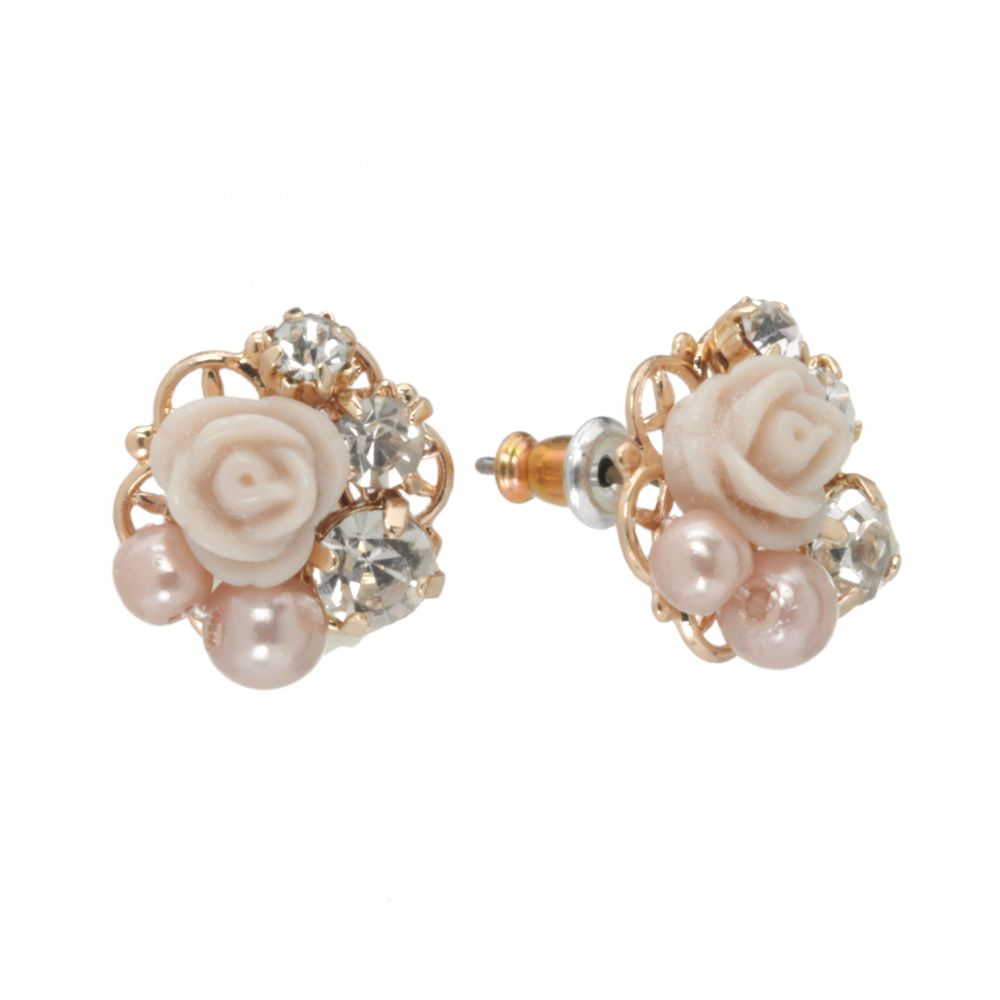 conrad flower stud earrings