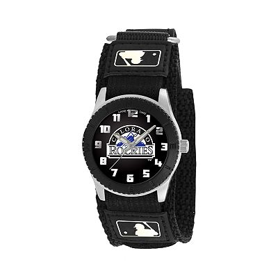 Game Time Rookie Series Colorado Rockies Silver Tone Watch - MLB-ROB-COL