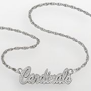 St. Louis Cardinals Sterling Silver Script Necklace