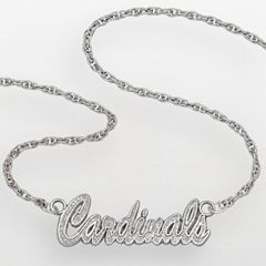 LogoArt St. Louis Cardinals Sterling Silver Script Necklace