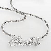 LogoArt Chicago Cubs Sterling Silver Script Necklace