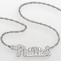 LogoArt Philadelphia Phillies Sterling Silver Script Necklace