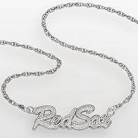 LogoArt Boston Red Sox Sterling Silver Script Pendant