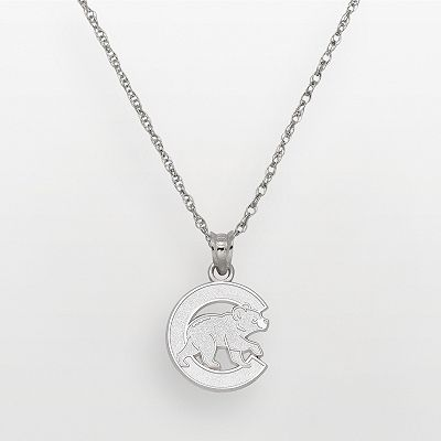 Chicago Cubs Sterling Silver Logo Pendant
