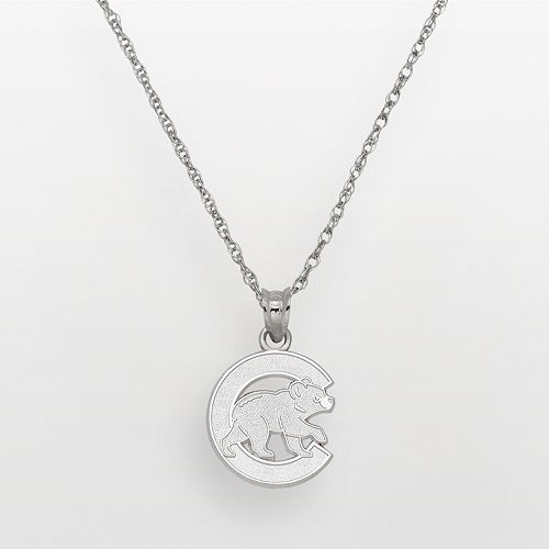 LogoArt Chicago Cubs Sterling Silver Logo Pendant