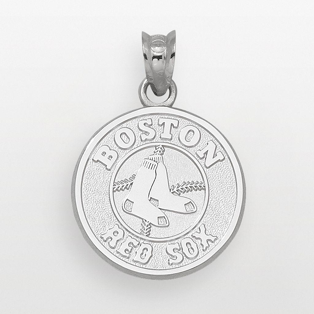 LogoArt Boston Red Sox Sterling Silver Logo Pendant