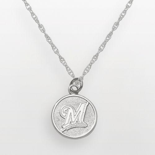 LogoArt Milwaukee Brewers Sterling Silver Logo Charm