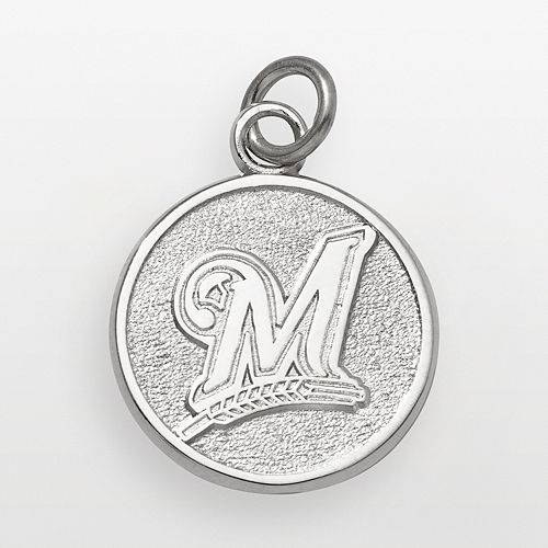 LogoArt Milwaukee Brewers Sterling Silver Logo Charm