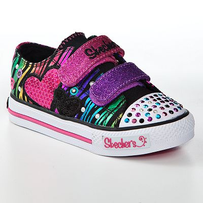 Skechers Twinkle Toes Triple Time Light Up Shoes