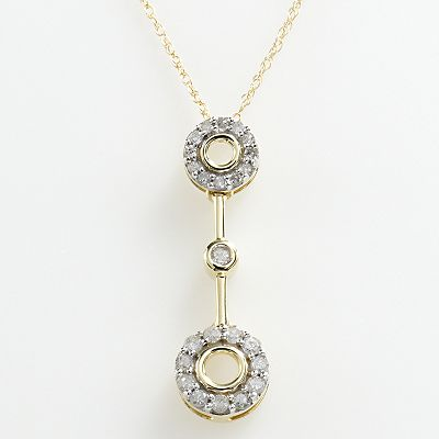 10k Gold 1/4-ct. T.W. Diamond Linear Circle Pendant