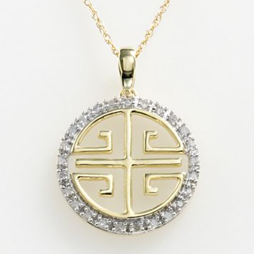 10k Gold 1/10-ct. T.W. Diamond Longevity Pendant