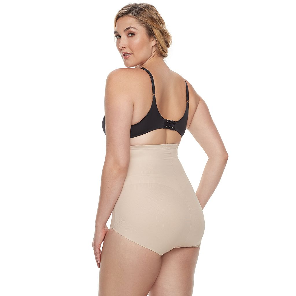 Plus Size Naomi & Nicole Firm Control High-Waist Brief 7775