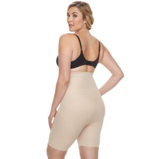 Plus Size Naomi & Nicole Firm Control High-Waist Thigh Slimmer 7779