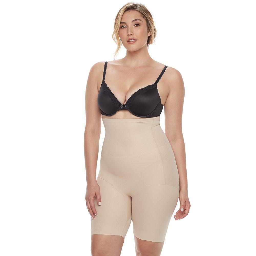 Naomi & Nicole Shapewear Women's Plus Size Unbelievable Comfort Hi Waist Thigh Slimmer 7779