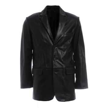 Men's Excelled Three-Button Leather Jacket