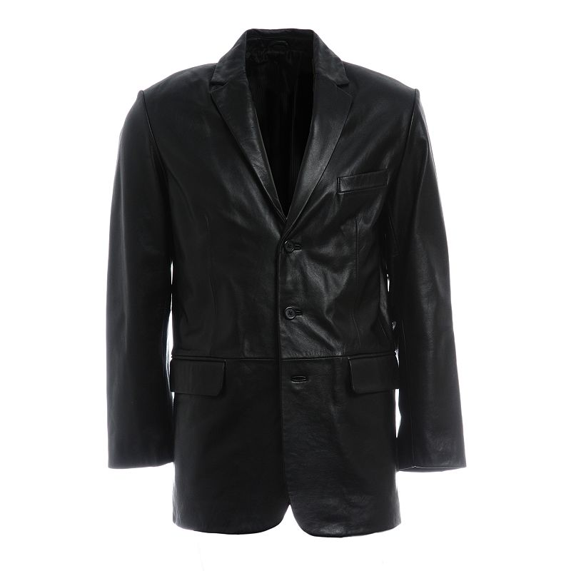 Excelled Three-Button Leather Jacket - Men