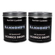 Hammond's 2-pk. Black Licorice Drop Tins