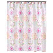 Jumping Beans Flower Power Fabric Shower Curtain