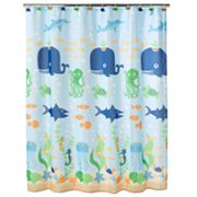 Jumping Beans Fish Tales Fabric Shower Curtain