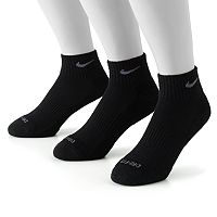 Men's Nike 3 pkDri-FIT Quarter Socks