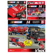 NASCAR Tony Stewart Office Depot Car, Transporter Rig and Pit Crew Building Sets by K'NEX