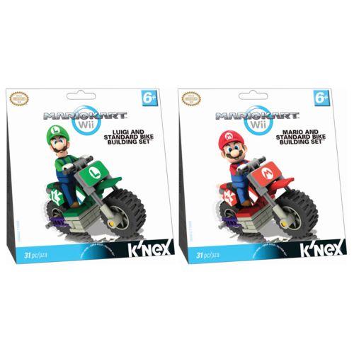 MarioKart Wii Luigi and Mario Standard Bike Building Sets by K'NEX