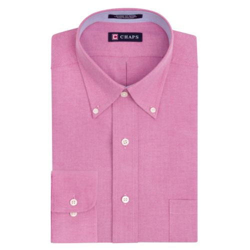Chaps Classic-Fit Solid Oxford Button-Down Collar Dress Shirt
