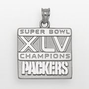 Green Bay Packers Sterling Silver Super Bowl XLV Champions Packers Pendant