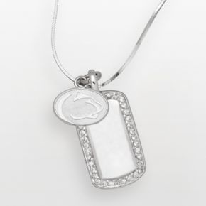 Penn State Nittany Lions Sterling Silver Cubic Zirconia Dog Tag Pendant