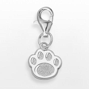 LogoArt Penn State Sterling Silver Lion Paw Logo Charm