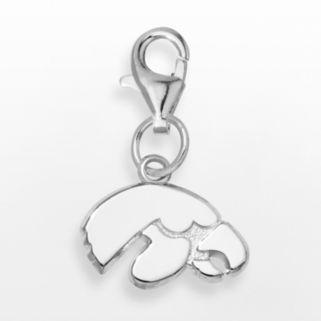 LogoArt Iowa Hawkeyes Sterling Silver Logo Charm