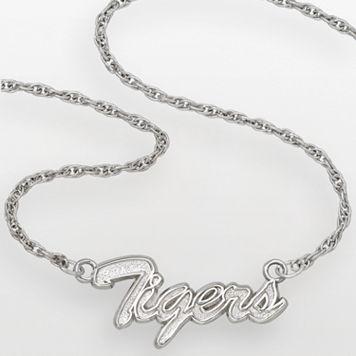 Auburn Tigers Sterling Silver Script Pendant