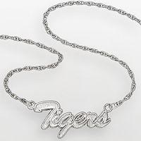 Clemson Tigers Sterling Silver Script Pendant