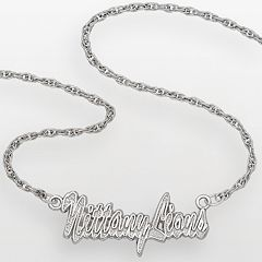 Penn State Nittany Lions Sterling Silver Script Pendant