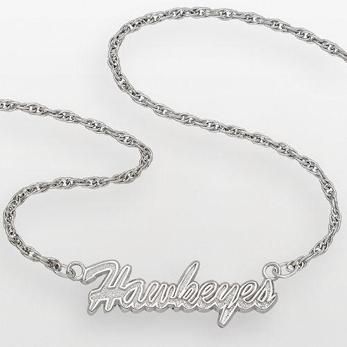 Iowa Hawkeyes Sterling Silver Script Pendant