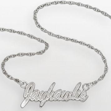 Kansas Jayhawks Sterling Silver Script Pendant