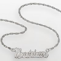 West Virginia Mountaineers Sterling Silver Script Pendant