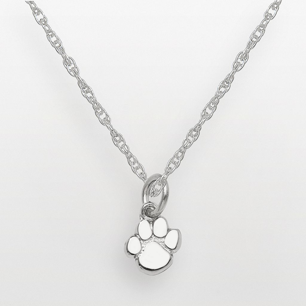 Clemson Tigers Sterling Silver Logo Pendant