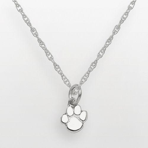 Clemson Tigers Sterling Silver Logo Pendant
